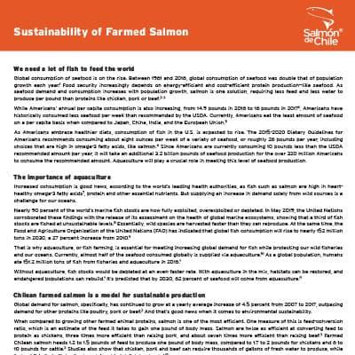 Sustainability of Farmed Salmon